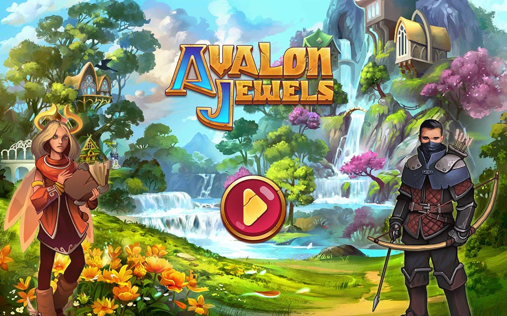 Avalon Jewels title screen