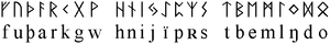 Runic alphabet - the Older Futhark