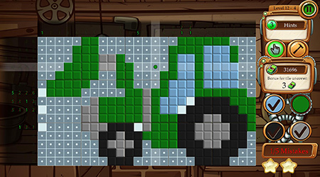 Time Twins Mosaics picross game screenshot